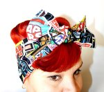 Vintage Inspired Star Wars Comic Book Head Scarf