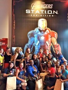 Avenger's Station Exhibit for Marvel Brunch