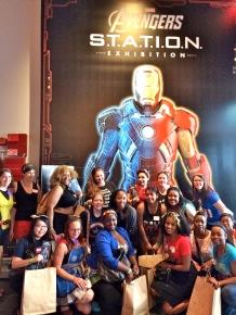 Avenger's Station Exhibit for Marvel Brunch