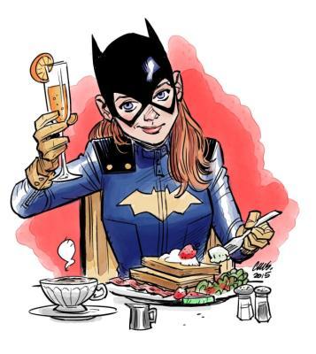 Batgirl at Brunch by Cameron Stewart exclusively for Geek Girl Brunch